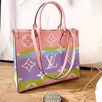 LV Bag Women Rainbow Squain Shpping Bag Big Bag