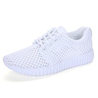 Mesh Breathable Womens Luxury Sneakers Lightweight