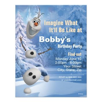 Frozen Olaf Birthday Invitation