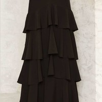 Give It a Spin Tiered Maxi Skirt