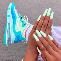 NIKE AIR MAX 270 REACT Gym hot sale couple color matching cushioned casual sneakers