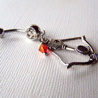 Bellybutton Ring Hunger Games Jewelry Girl on Fire Belly Ring Belly Button Jewelry Navel Ring Piercing Body Jewelry