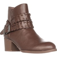 SC35 Dyanaa Stitched Harness Ankle Boots, Barrel, 10 US