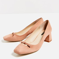 HIGH HEEL SHOES WITH BOW DETAIL
