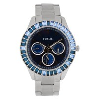 Fossil Women's ES2958 Stainless Steel Analog with Blue Dial Watch