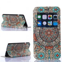 [USD $ 7.99] - Flowers Pattern PU Leather Full Body Cover for iPhone 6 Plus