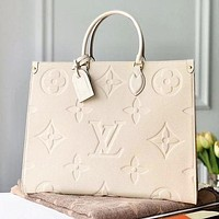 LV Louis Vuitton color print ladies shopping handbag shoulder bag