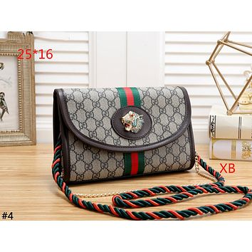GUCCI 2019 new women's high-grade crystal tiger head chain bag shoulder bag Messenger bag #4