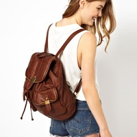 New Look Zip Edge Backpack at asos.com