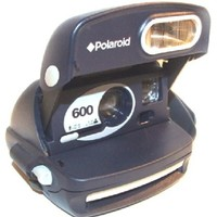 Blue Polaroid 600 Instant Film Camera with Flash & Close Up