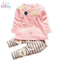 Baby girls clothes set jacket leggings kids clothing set baby dress flowers girls baby designers clothes girls infants