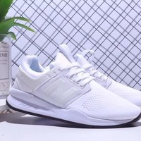 new balance 247 unisex fashion casual solid color running shoes couple sneakers