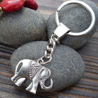 Wholesale!!!The elephant keychain animal key ring with charm chain jewelry personalized jewelry steampunk Unique gift(KS84)