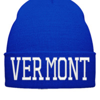 VERMONT EMBROIDERY HAT - Beanie Cuffed Knit Cap