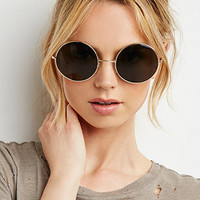 Oversized Round Metal Sunglasses