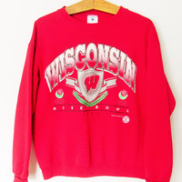 Vintage 1990s Wisconsin Badgers Rose Bowl Sweatshirt