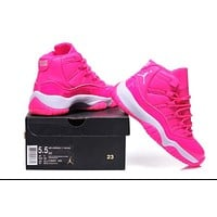 Nike Jordan Sneakers Sport Shoes Retro 11 Pink