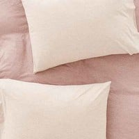 Heathered Jersey Pillowcase Set
