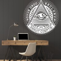 Large Vinyl Decal Wall Sticker Image All Seeing Eye Illuminati Symbol Unique Gift (n692)