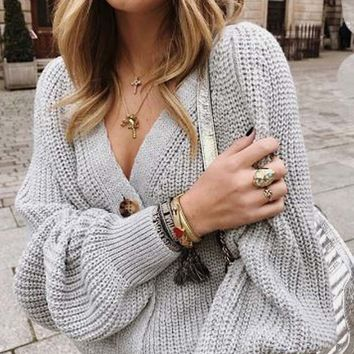 Tahoe Knit Sweater in Gray