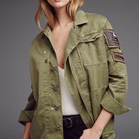 Free People Embellished Military Shirt Jacket | Nordstrom