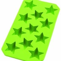 Lekue Slim Star Ice Cube Tray, Green