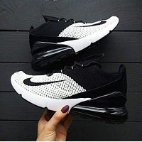 Nike Air Max 270 Flyknit men and women Sport air cushion running shoes
