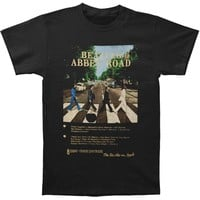 Beatles Men's  Abbey Road 8 Track Slim Fit T-shirt Black