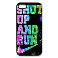 WW-Supplier Custom Phone Case, Shut Up and Run Design 3D Printed Case Cover for Apple iPhone 4 4S WW-Supplier-11982