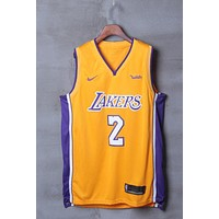 Los Angeles Lakers #2 Lonzo Ball Nike Icon Edition NBA Jerseys