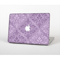 """The Light and Dark Purple Floral Delicate Design Skin Set for the Apple MacBook Air 13"""""""