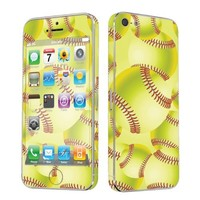 Apple iPhone 5 Full Body Vinyl Decal Protection Sticker Skin Softball By Skinguardz