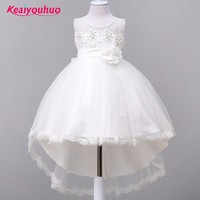 2017 Baby Girls Party Dress Evening Wear Long Tail Girls Clothes Elegant Birthday Wedding Girl Dress Kids Baby Dresses for 2-10Y