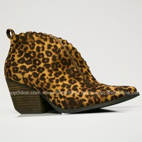 Tan Leopard Booties