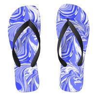 marbled blue design flip flops | Zazzle.co.uk