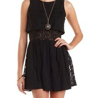 Layered Lace Skater Dress by Charlotte Russe