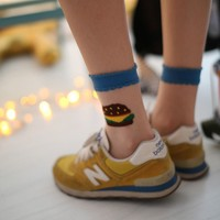 Hamburger Crystal Socks