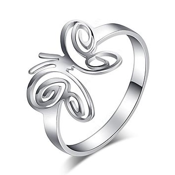 Fashion Butterfly Stainless Steel Rings For Women