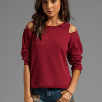 LnA Scarlett Sweater in Rouge from REVOLVEclothing.com