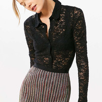 Cooperative Astarte Lace Button-Down Shirt - Urban Outfitters