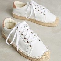 Espadrille Sneakers in White Size: