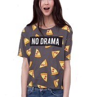 NO DRAMA Women Tee - Pizza s T-shirt
