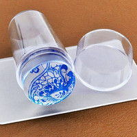 Transparent Silicone Stamper with Scraper Manicure Nail Printing Machine