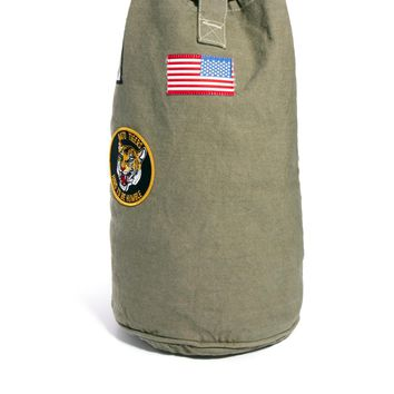 Reclaimed Vintage | Reclaimed Vintage Army Patch Duffle Bag at ASOS