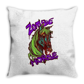 zombie horse classic Throw Pillow