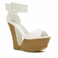 Cut It Out Buckled Ankle Cuff Wedges - GoJane.com