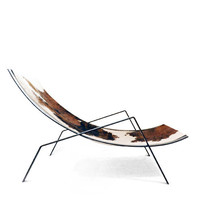 MODESTO  modern hide and steel lounge chair by mile112 on Etsy