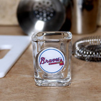 Atlanta Braves Official MLB 2 fl. oz. Square Shot Glass by Great American Products