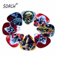 SOACH 10pcs Newest   The iron lady  Guitar Picks Thickness 1.0mm  Selling  high quality Iron Maiden Guitar Accessories
