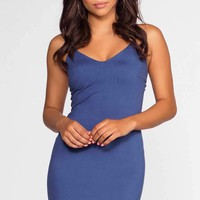 Aleah Dress - Blue Suede